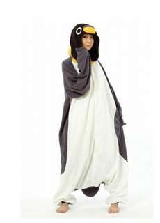 Unisex Penguin Adult Onesie/bodysuit/costume