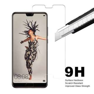 Huawei P20 Pro 透明鋼化防爆玻璃 保護貼 9H Hardness HD Clear Tempered Glass Screen Protector (包除塵淸㓗套裝)(Clearing Set Included)