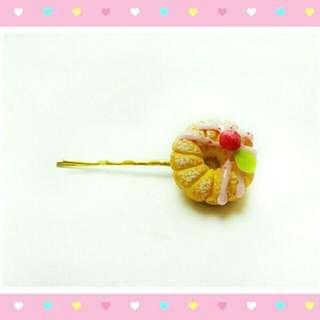 ✨全新😍👍日本手作💕超精緻甜美 甜甜圈髮飾 髮夾