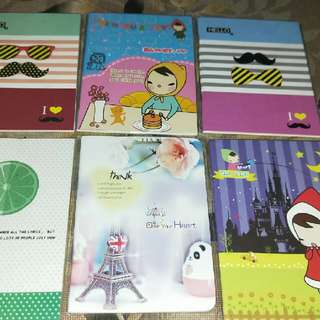Designs of the notebooks
