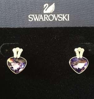 New Genuine Swarovski Oceanic Earrings Tanzanite 5020051