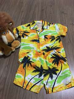 Beach shirt and pant set