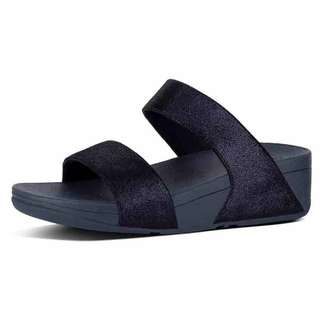 (BN) Authentic Fitflop Black Shimmy Suede Slide Sandals