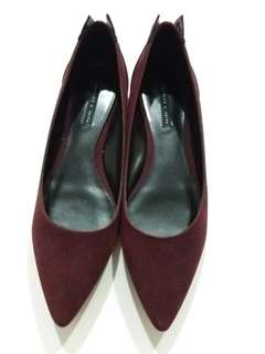 Charles & Keith wine red shoes