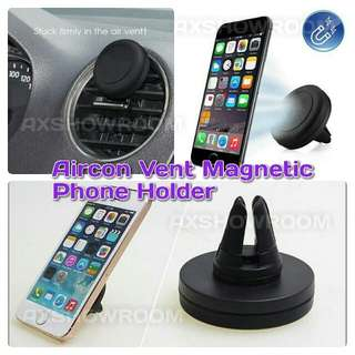 Air-con Vent secure magnetic phone holder.