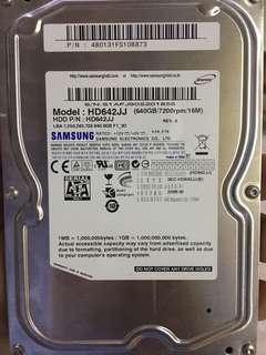 "Samsung 3.5"" harddisk  sata 640gb"