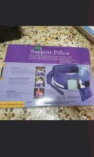 Branded breastfeeding support pillow