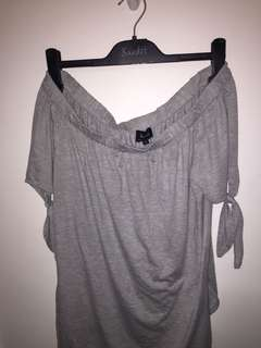 Bardot Grey Top