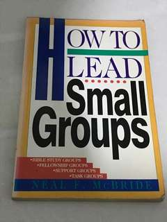 How to lead a small groups