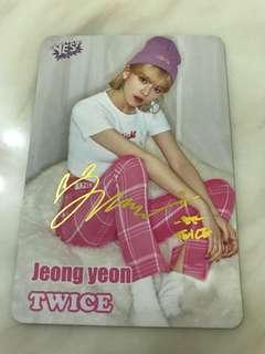 Twice Jeong Yeon 金簽