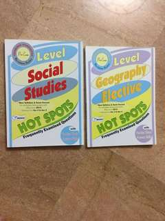 O level Social Studies & Geography Elective Assessment Books