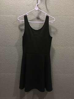 simple black skater dress h&m