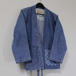 FIND F160909 Noragi 日式水洗拼布農作服 藍色洗舊款 原價NT$4000
