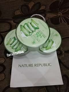 New! Nature Republic Aloe Vera Soothing Gel 92%