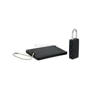 2-in-1 Travel Luggage Lock and ID Tag Set (Black)
