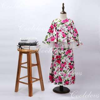 Floral Rose Design Jubah