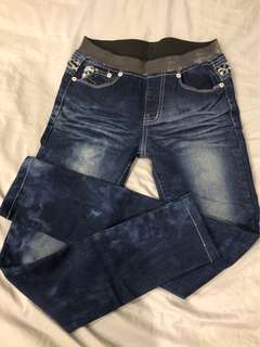 🚚 全新鬆緊褲頭 牛仔褲 (適合S-M)