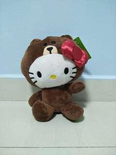 🚚 Hello Kitty & Line Friends (Bear Cover) Plush Toy Plushie Cute
