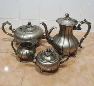 Antique silver plated large tea set
