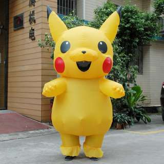 Pikachu Inflatable Costume (for Children and Adult)