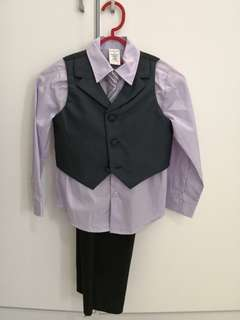 3 piece suit with pants and tie