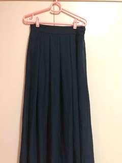 Navy Blue Maxi Skirt