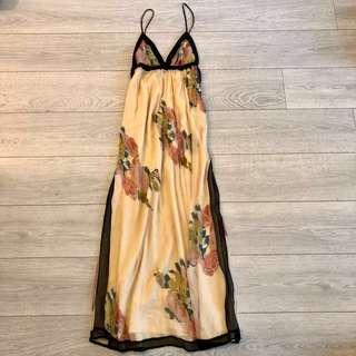 Top Shop long maxi sexy summer flower dress 沙灘長裙