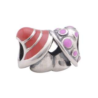 Code S115 - Mushrooms 100% 925 Sterling Silver Charm compatible with Pandora