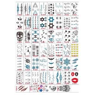 紋身貼紙持久防水貼紙性感遮疤耐磨印水紙帥氣紋身 男女款 ( 自選40張 ) 清新圖