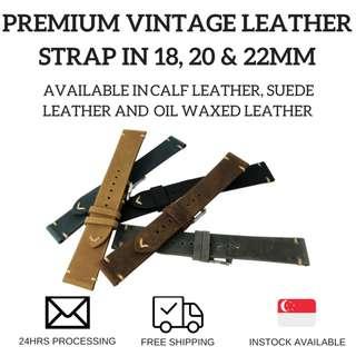 Premium Vintage Leather Watch Strap
