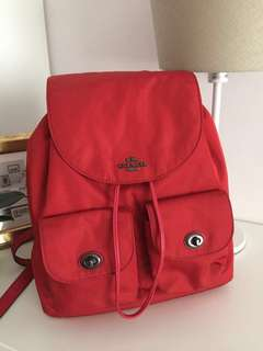 Coach Nylon Back Pack-in-Red
