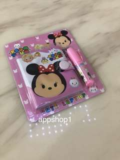 Tsum tsum (pink) cute note book set - kids party goody bags gift, goodie bag packages