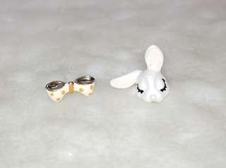 Cutie Rabbit n Ribbon Stud Earring