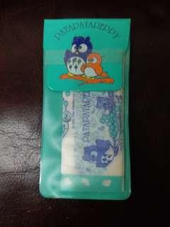Patapatapeppy 貓頭鷹日本絕版1996年膠佈