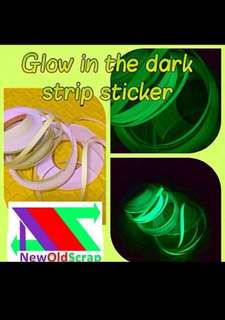 Glow in the dark strip