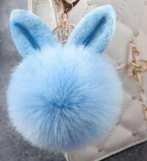 Bunny's ears furry bag charm