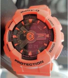 Baby G BA-111-4A2 Orange Black Watch