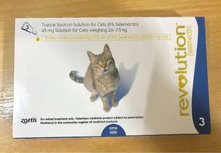 Revolution for Cats 2.6 to 7.5kg