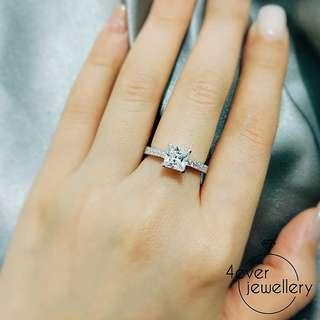 FR234  微鑲公主方戒指