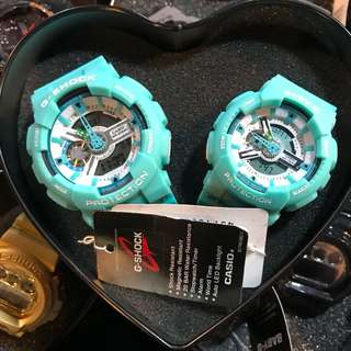 Gshock Couple Watch turquoise