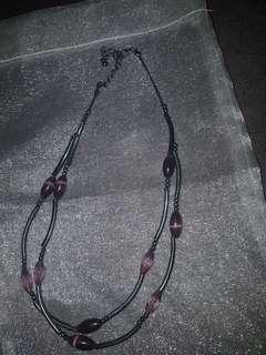 Double loop necklace