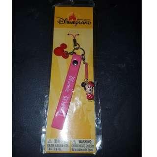 2008年香港迪士尼樂園米妮手機繩配件 Disney Minnie Mobile Phone Strap Accs