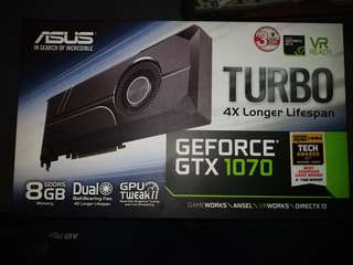 Asus gtx 1070 graphic card turbo