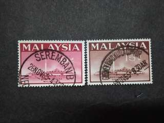 Malaysia 1965 National Mosque Kuala Lumpur Loose Set Short Of 20c - 2v Used Stamps #2