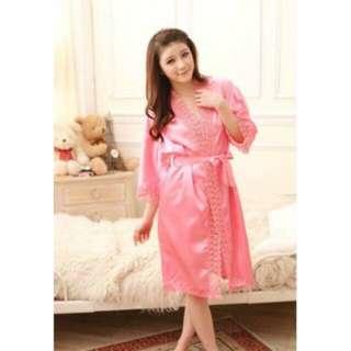 Baju tidur kimono dress satin