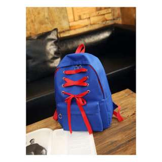 [PRE-ORDER] Women Shoe String Large Capacity Teen Fashion Student Backpack [Blue/White/Black/Red]