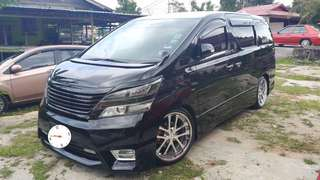 SAMBUNG BAYAR/CONTINUE LOAN  TOYOTA VELLFIRE 2.4  YEAR 2010/2011 MONTHLY RM 2400 BALANCE 4 YEARS ROADTAX VALID 7 SEATER LEATHER TIPTOP CONDITION  DP KLIK wasap.my/60133524312/vellfire