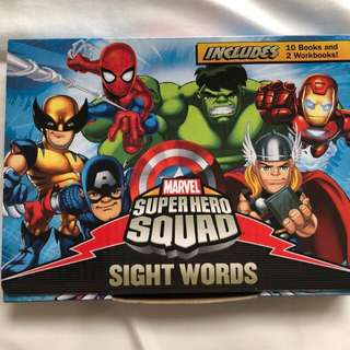 Marvel Reading Books Sight Words