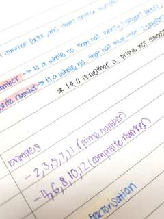 Sec one secondary 1 Math notes