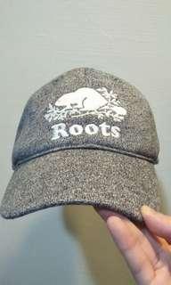 🚚 正版roots 全新經典款 花灰色 棒球帽 老帽